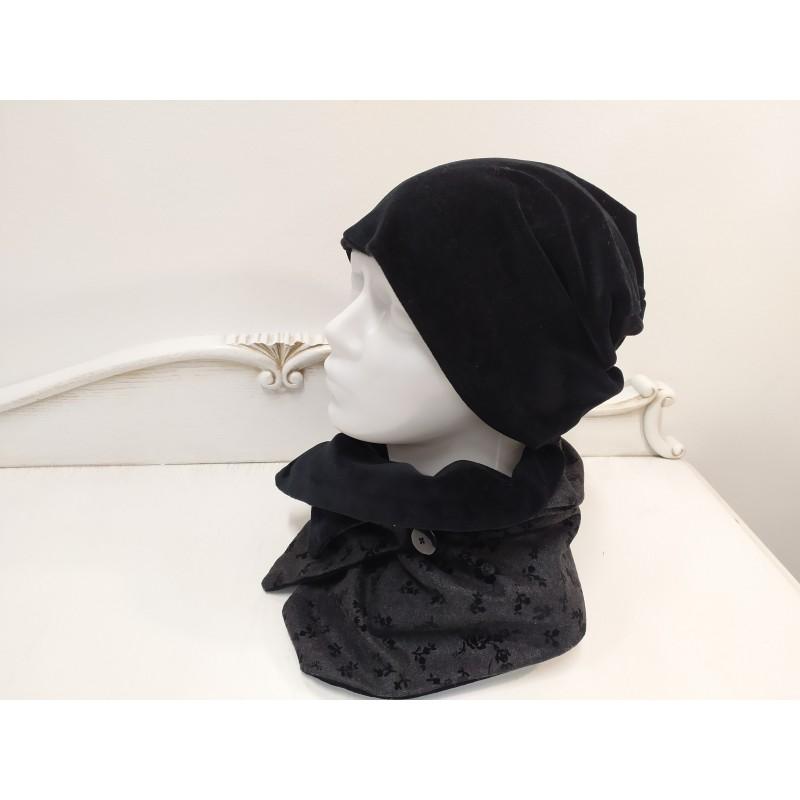 Moteriškas rinkinys (kepurė, šalikas)